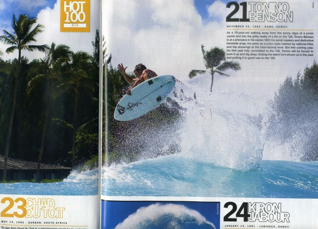 Tonino Blows up in the new Surfer Mag Hot 100 issue!