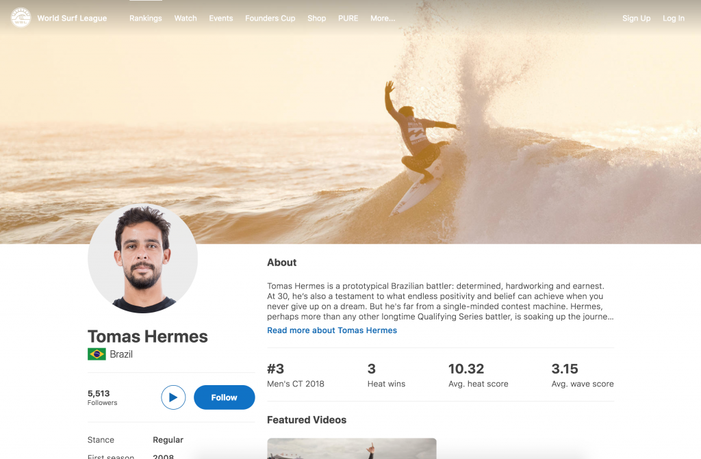 Tomas Hermes - World Surf League